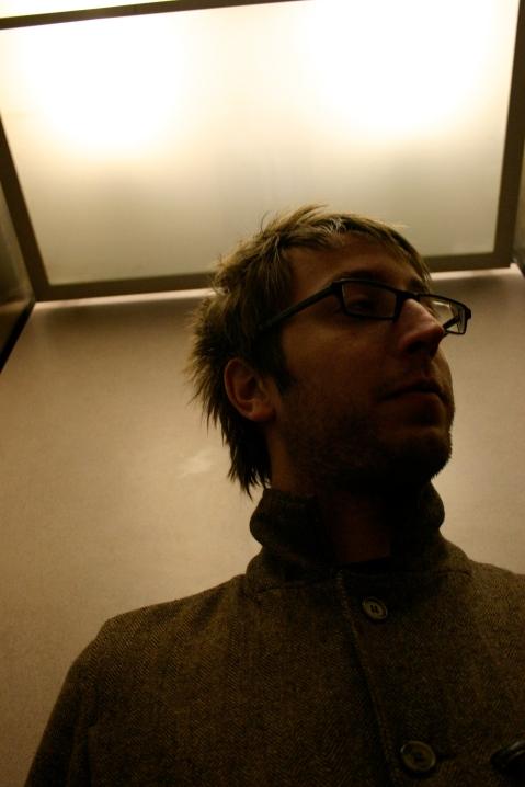 Santino uses an elevator.