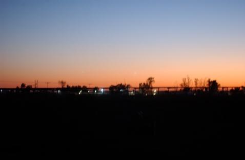 Sunrise on a convoy.